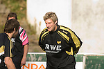 Jonathan Spratt during Ospreys rugby training at Llandarcy Institute of Sport near Neath aheah of their Heineken Cup match with Clermont Auvergne on Sunday..