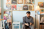 May 8, 2015. Carrboro, North Carolina.<br />  Jay Reeves is the owner of Vinyl Perk.<br />  Vinyl Perk opened almost 2 years ago and specializes in vinyl records of many genres and  pour over coffee.<br />  Outsiders tend to lump Chapel Hill with nearby Durham, but the more sensible pairing is with Carrboro, the adjacent town that was once a mere offshoot known as West End. Even today the transition from Chapel Hill, anchored by North Carolina''s flagship public university, into downtown Carrboro is virtually seamless.