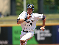 Nick Weglarz of the Lake County Captains vs. the Delmarva Shorebirds: June 14th, 2007 at Classic Park in Eastlake, OH.  Photo by Mike Janes/Four Seam Images