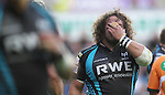 Adam Jones covers his eyes in frustration..RaboDirect Pro12 Play Off Semi Final.Ospreys v Munster.Liberty Stadium.11.05.12.©Steve Pope