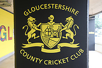 General view of the Gloucestershire CCC crest ahead of Gloucestershire vs Essex Eagles, Royal London One-Day Cup Cricket at the Bristol County Ground on 3rd August 2021