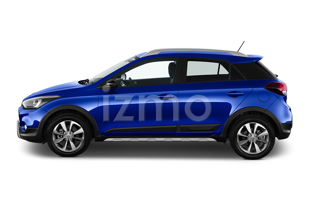 Car Driver side profile view of a 2020 Hyundai i20-Active Active 5 Door Hatchback Side View