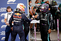 10th September, September 2021; Nationale di Monza, Monza, Italy; FIA Formula 1 Grand Prix of Italy, Free practise and qualifying for sprint race:  33 Max Verstappen NED, Red Bull Racing, 44 Lewis Hamilton GBR, Mercedes-AMG Petronas F1 Team