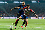 Angel Correa (R) of Atletico de Madrid fights for the ball with Mauro Emanuel Icardi of FC Internazionale during their International Champions Cup Europe 2018 match between Atletico de Madrid and FC Internazionale at Wanda Metropolitano on 11 August 2018, in Madrid, Spain. Photo by Diego Souto / Power Sport Images