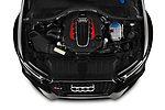 Engine high angle detail view of 2019 Audi RS 6 Avant Base 5 Door Wagon