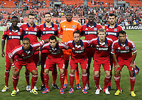 WASHINGTON, DC. - AUGUST 22, 2012:  Starting eleven of the Chicago Fire during an MLS match against DC United at RFK Stadium, in Washington DC,  on August 22. United won 4-2.