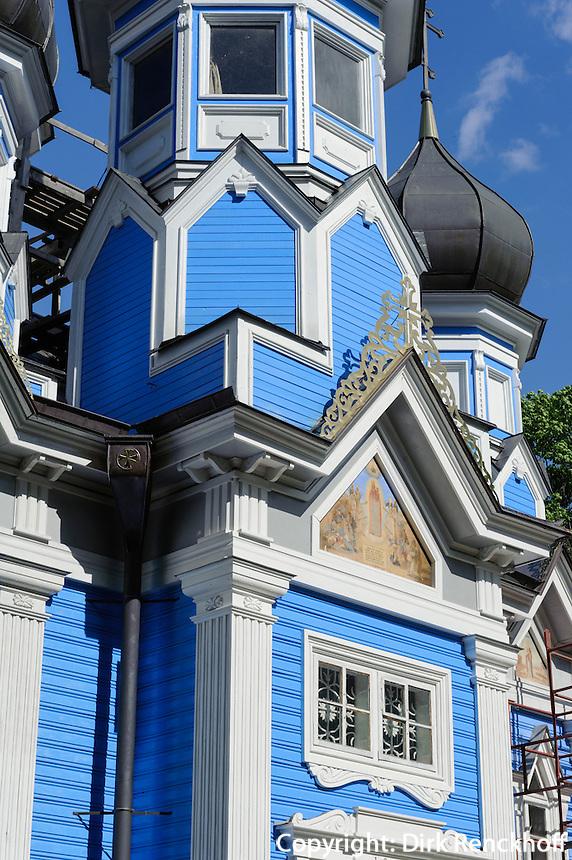russische Holzkirche von 1866 in Drusininkai, Litauen, Europa