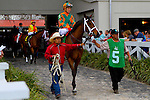 February 21, 2015: Lovely Maria with Kerwin Clark up in the Rachel Alexandra Stakes at the New Orleans Fairgrounds Risen Star Stakes Day. Steve Dalmado/ESW/CSM