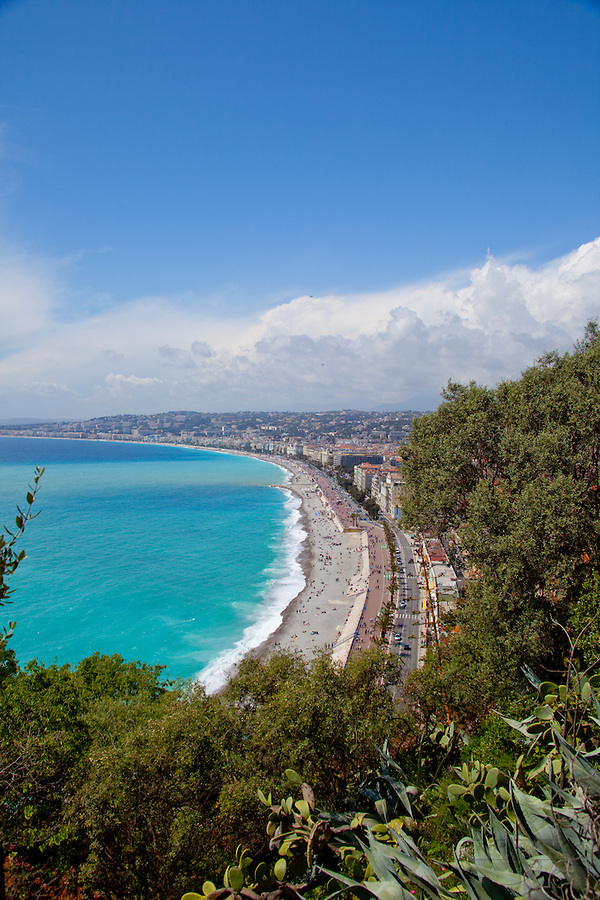 View of the beach in Nice, France