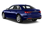 Car pictures of rear three quarter view of a 2020 Audi A4 Advanced 4 Door Sedan angular rear