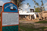 Zanzibar, Tanzania.  Marahubi Palace Ruins, 19th Century Palace for the Sultan's Wives. 21 IMAGES OF MARAHUBI AND MTONI PALACES AVAILABLE.  WHAT DO YOU NEED?
