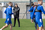 St Johnstone Training….06.10.20     <br />Callum Davidson pictured during training at McDiarmid Park this morning ahead of tomorrow nights Betfred Cup game against Kelty Hearts.<br />Picture by Graeme Hart.<br />Copyright Perthshire Picture Agency<br />Tel: 01738 623350  Mobile: 07990 594431