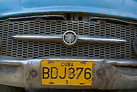 Classic American car bumper in Vinales, Pinar del Rio Province, Cuba.