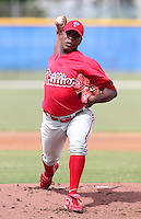 Philadelphia Phillies pitcher Perci Garner #56 during an Instructional League game against the Toronto Blue Jays at Englebert Complex on October 12, 2011 in Dunedin, Florida.  (Mike Janes/Four Seam Images)