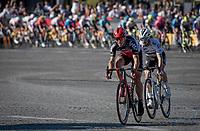 Philippe Gilbert (BEL/Lotto Soudal) & Julian Alaphilippe (FRA/Deceuninck - QuickStep) trying to create a gap.<br /> <br /> Stage 21 (Final) from Chatou to Paris - Champs-Élysées (108km)<br /> 108th Tour de France 2021 (2.UWT)<br /> <br /> ©kramon
