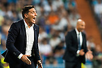 Coach Eduardo Berizzo of Celta de Vigo reacts in action during their La Liga match at the Santiago Bernabeu Stadium between Real Madrid and RC Celta de Vigo on 27 August 2016 in Madrid, Spain. Photo by Diego Gonzalez Souto / Power Sport Images