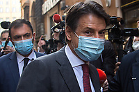 Giuseppe Conte, former Italian Prime Minister who resigned on the 26th of January 2021 - http://bit.do/fNssS .<br /> <br /> Rome, 06/02/2021. Today, the designated Italian Prime Minister - and former President of the European Central Bank -, Mario Draghi, held his third day of consultations at Palazzo Montecitorio, meeting delegations of the Italian political parties in his attempt to form the new Italian Government.