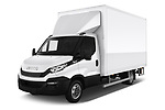2018 Iveco Daily - 4 Door Cargo Van Angular Front automotive stock photos of front three quarter view