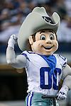 Dallas Cowboys mascot, Rowdy, in action during the pre-season game between the Baltimore Ravens and the Dallas Cowboys at the AT & T stadium in Arlington, Texas. Baltimore defeats Dallas  37-30.