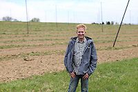 Hops grower Jonathan Staples at Black Hops farm located in Lucketts, Va. Photo/Andrew Shurtleff