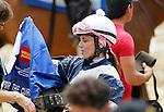 May 16, 2014: Stacie Clark_Rogers finishes second, in a photo finish, in the Lady Legends Race for the Cure V on Black-Eyed Susan Day at Pimlico Race Course in Baltimore, MD. ©Joan Fairman Kanes/ESW/CSM