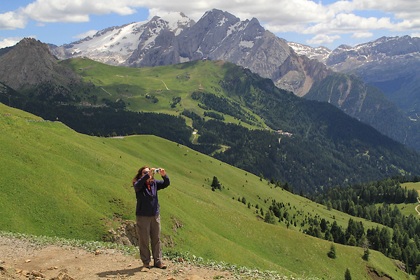 Mt Marmolada behind,Dolomites, northern Italy, Europe.