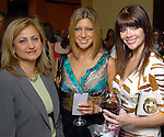 Mitra Okhowat, Lissa Goldsmith (cq) and Kirsten Guerra at the Children's Assessment Center luncheon at the InterContinental Hotel Thursday April 16,2009.(Dave Rossman/For the Chronicle)