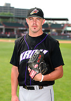 Akron Aeros Sean Smith poses for a photo before an Eastern League game at Jerry Uht Park on June 29, 2006 in Erie, Pennsylvania.  (Mike Janes/Four Seam Images)
