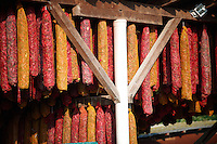 Capsicum annuum or chili peppers drying  to make Hungarian paprika - Kalocsa Hungary