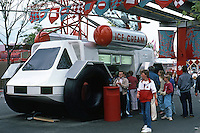 Vancouver: EXPO '86--Lunar Vehicle--Ice Cream Stand.  Photo '86.