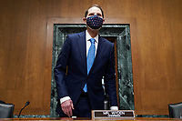 Senate Finance Committee Chairman Ron Wyden (D-Ore.) arrives for a nomination hearing for Deputy Treasury Secretary nominee Adewale Adeyemo on Tuesday, February 23, 2021 at Capitol Hill in Washington, D.C.<br /> Credit: Greg Nash / Pool via CNP /MediaPunch