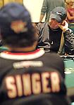 Michael Fletcher contemplates a move against David Singer.