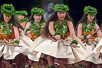 Merrie Monarch hula festival in Hilo, on the Big island of Hawaii