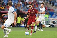 3rd October 2021; Stadio Olimpico, Rome, Italy; Serie A football, AS Roma versus Empoli; Lorenzo Pellegrini of As Roma takes on Mattia Viti of FC Empoli