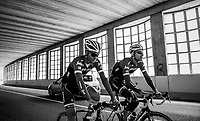Bauke Mollema (NED/Trek-Segafredo) & Peter Stetina (USA/Trek-Segafredo) doing a relaxed trainingride on the 3rd restday during the 100th Giro d'Italia 2017