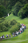 The crowd follows the competition during UBS Hong Kong Open golf tournament at the Fanling golf course on 25 October 2015 in Hong Kong, China. Photo by Aitor Alcalde / Power Sport Images