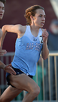 Anthonie Alvarez of Har-Ber starts Friday, April 30, 2021, in the 800 meters during the 6A-West Conference Track and Field Meet at the Tiger Athletic Complex in Bentonville. Visit nwaonline.com/210501Daily/ for today's photo gallery. <br /> (NWA Democrat-Gazette/Andy Shupe)
