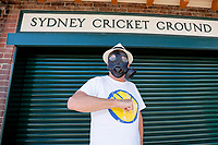 13th March 2020, Sydney Cricket Ground, Sydney, Australia;  A fan outside the SCG after he is informed of no public access due to the Coronavirus precautions. International One Day Cricket. Australia versus New Zealand Blackcaps, Chappell–Hadlee Trophy, Game 1.