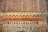 Detail of the 13th century pulpit with earlier Lombard panels of the Basilica Church of Santa Maria Maggiore, Tuscania, Basilica Church of Santa Maria Maggiore, Tuscania