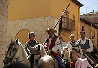 The man who made the fatal strike (C) to kill the bull returns to Tordesillas after the 'El toro de la Vega' (The bull of the plain) bullfight, on September 16, 2008 in Tordesillas, near Valladolid, © Pedro ARMESTRE.
