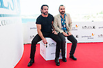 """Ola Rapace and the director of the film Jean-Patrick Benes pose to the media during the presentation of the film """"Ares"""" at Festival de Cine Fantastico de Sitges in Barcelona. October 11, Spain. 2016. (ALTERPHOTOS/BorjaB.Hojas)"""