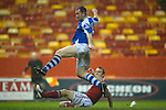 Aberdeen v St Johnstone..22.12.12      SPL.Frazer Wright puts the ball wide of the goal.Picture by Graeme Hart..Copyright Perthshire Picture Agency.Tel: 01738 623350  Mobile: 07990 594431