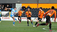Lewis Hardcastle long range effort for Barrow crashes against the bar during Barnet vs Barrow, Buildbase FA Trophy Football at the Hive Stadium on 8th February 2020