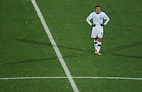A dejected Herculez Gomez of USA. Ghana defeated the USA 2-1 in overtime in the 2010 FIFA World Cup at Royal Bafokeng Stadium in Rustenburg, South Africa on June 26, 2010.