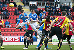 St Johnstone v Partick Thistle…13.05.17     SPFL    McDiarmid Park<br />Tam Scobbies header is saved by Tomas Cerny<br />Picture by Graeme Hart.<br />Copyright Perthshire Picture Agency<br />Tel: 01738 623350  Mobile: 07990 594431