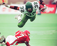 Mike Saunders Saskatchewan Roughriders 1997. Photo Mike Ridewood