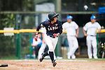 #25 Kitayama Miku of Japan runs after bat during the BFA Women's Baseball Asian Cup match between South Korea and Japan at Sai Tso Wan Recreation Ground on September 2, 2017 in Hong Kong. Photo by Marcio Rodrigo Machado / Power Sport Images
