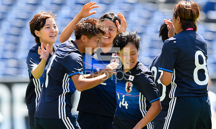 San Diego, CA - Sunday July 30, 2017: Mina Tanaka during a 2017 Tournament of Nations match between the women's national teams of the Australia (AUS) and Japan (JAP) at Qualcomm Stadium.