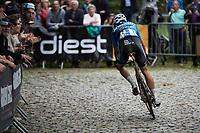 Wout Van Aert (BEL/Vérandas Willems-Crelan) attacking on the last climb<br /> <br /> Dwars door het Hageland (1.1)<br /> 1 Day Race: Aarschot > Diest (194km)