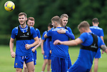 St Johnstone Training...02.07.21<br />New loan signing Hayden Muller pictured greeting Reece Devine who has arrived on loan from Man Utd.<br />Picture by Graeme Hart.<br />Copyright Perthshire Picture Agency<br />Tel: 01738 623350  Mobile: 07990 594431